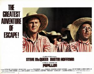 Papillon US Lobby Card with Steve McQueen and Dustin Hoffman 1973