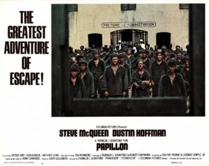 Papillon US Lobby Card with Steve McQueen and Dustin Hoffman (6)