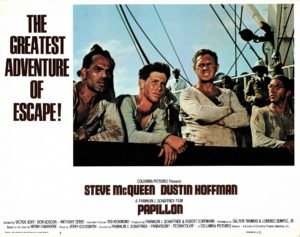 Papillon US Lobby Card with Steve McQueen and Dustin Hoffman (2)