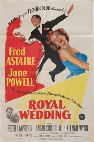 Royal Wedding US One Sheet poster 1951 with Fred Astaire and Jane Powell