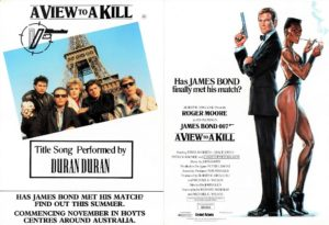 A View To A Kill Flyer with Roger Moore, Grace Jones and Duran Duran (2)
