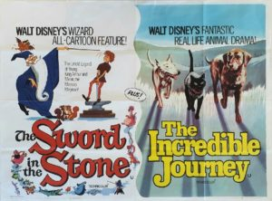 The Sword in the Stone and The Incredible Journey Walt Disney UK Quad Film Poster (19)