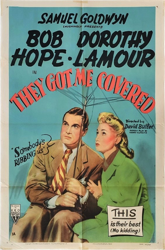 They Got Me Covered US One Sheet 1951 with Bob Hope and Dorothy Lamour (17)