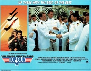 Top Gun UK Lobby Card with Tom Cruise 1986