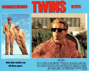 Twins US Lobby Card 1988 with Arnold Schwarzenegger, Danny DeVito (2)