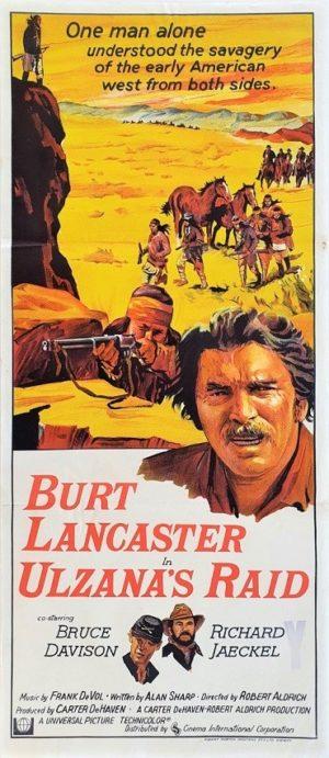 Ulzana's Raid Australian Daybill movie poster with Burt Lancaster (2)