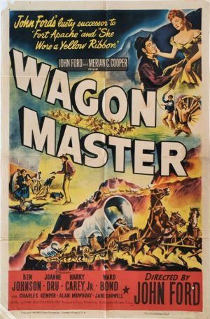 Wagon Master US One Sheet Movie Poster 1950 by John Ford