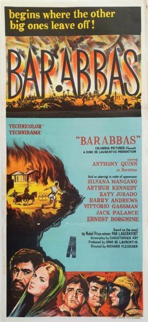 Barabbas Australian daybill movie poster (94)