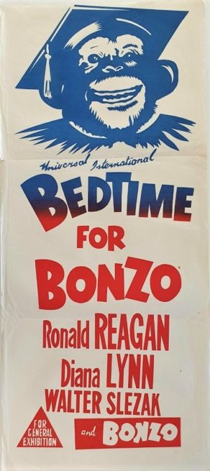 Bedtime for Bonzo Australian daybill movie poster with Ronald Reagan (45)