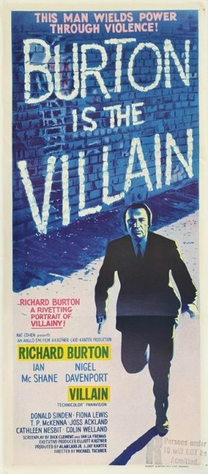 Burton is the Villian Australian daybill movie poster (2)