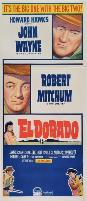 El Dorado Australian daybill movie poster with John Wayne and Robert Mitchum (8)