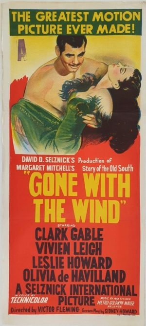 Gone With The Wind Australian daybill movie poster (9)