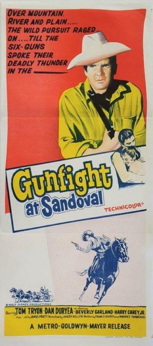 Gunfight at Sandoval Australian daybill movie poster (31)