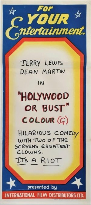 Hollywood or bust Australian daybill movie poster Dean Martin and Jerry Lewis (2)