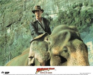 Indiana Jones and the Temple of Doom UK front of house lobby card 8 x 10