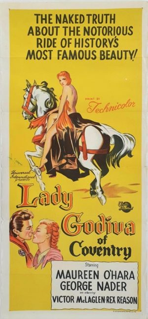 Lady Godiva of Coventry Australian daybill movie poster (95)