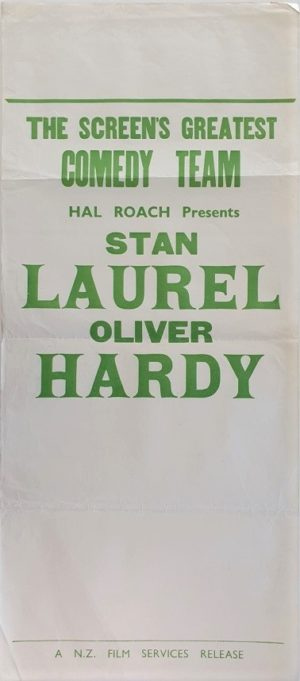 Laurel and Hardy New Zealand stock daybill movie poster (6)