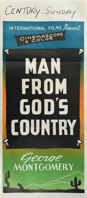 Man From Gods Country New Zealand daybill movie poster (103)