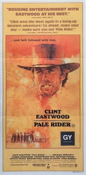 Pale Rider Australian daybill movie poster with Clint Eastwood (11)
