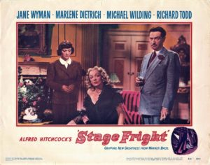 Stage Fright US Lobby Card by Alfred Hitchcock and Marlene Dietrich