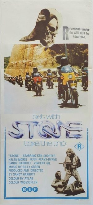 Stone Australian Daybill movie poster biker film which lead to Mad Max (12)