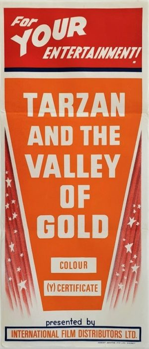 Tarzan and the valley of gold Australian daybill movie poster (4)