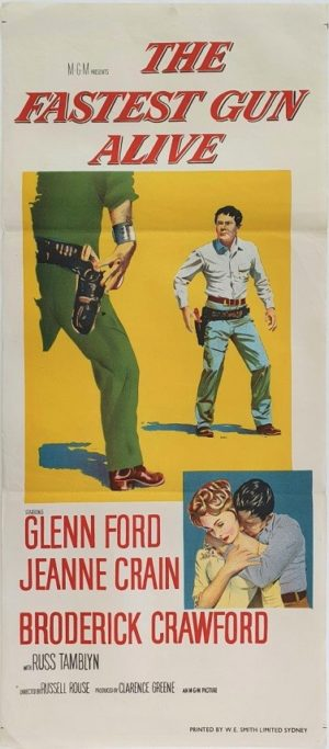 The Fastest Gun Australian daybill movie poster with Glenn Ford (2)