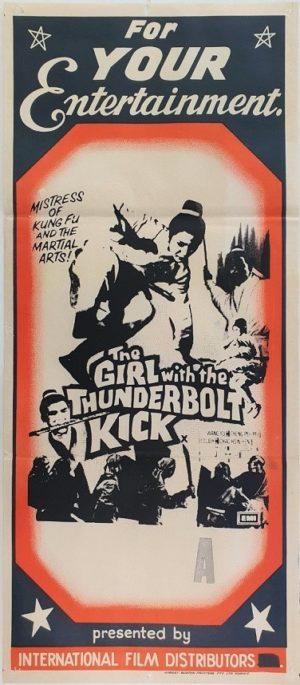 The Girl with the thunderbolt kick Australian daybill movie poster (36)