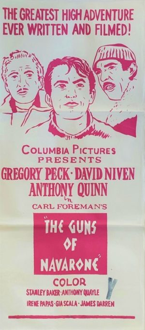 The Guns of Navarone re-release Australian daybill movie poster (80)