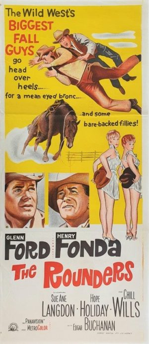 The Rounders Australian daybill movie poster with Glenn Ford and Henry Fonda (6)