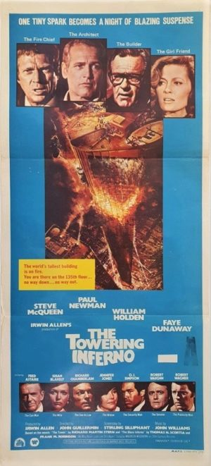 Towering Inferno Australian daybill movie poster (80)