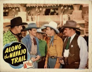 Along the Navajo Trail US lobby card 1945 with Roy Rogers and Trigger (6)