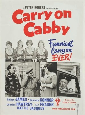 Carry On Cabby New Zealand Daybill Poster with Sid James 1963