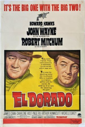 El Dorado Australian One Sheet movie poster with John Wayne and Robert Mitchum (3)