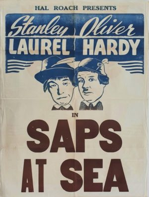 Laurel and Hardy Saps at Sea New Zealand One Sheet film poster (12)