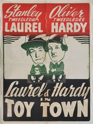 Laurel and Hardy in Toytown (Babes in Toyland) New Zealand One Sheet film poster (12)