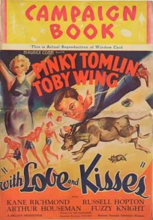 With Love and Kisses US film Campaign Book 1936 starring Pinky Tomlin and Toby Wing