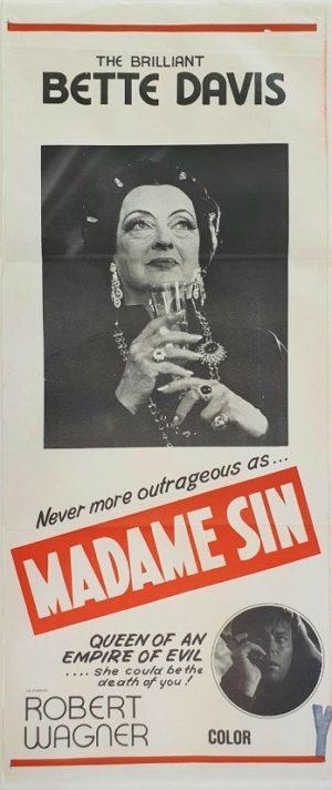 Madame Sin Australian daybill film poster with Bette Davis (2)