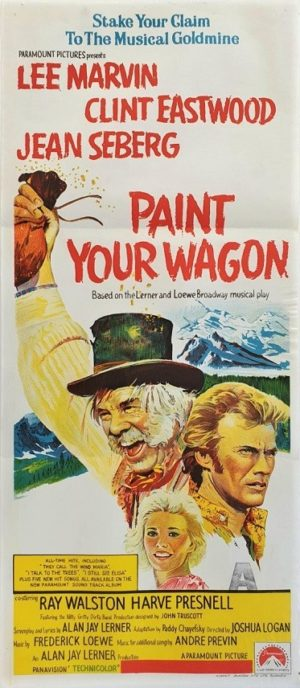 Paint your wagon Australian Daybill movie poster with Clint Eastwood and Lee Marvin (4)