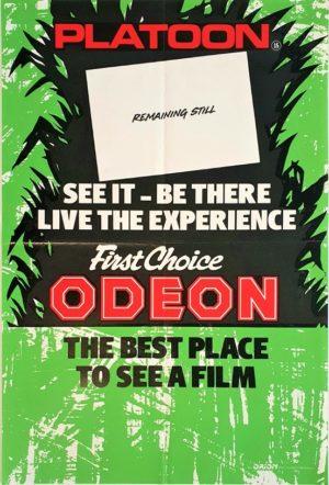 Platoon UK Double Crown Vietnam movie poster (2)