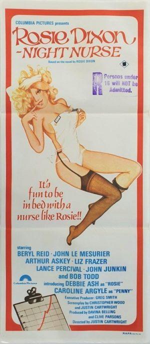 Rosie Dixon Night nurse Australian daybill movie poster 1978