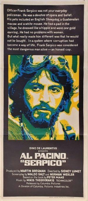 Serpico Australian daybill movie poster with Al Pacino (2)