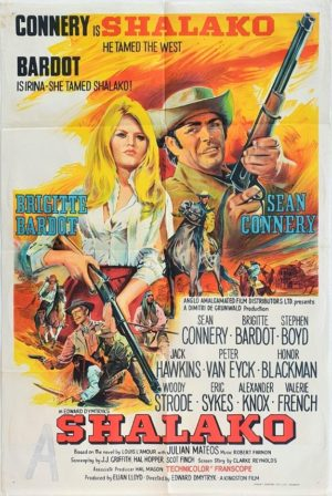 Shalako Australian One Sheet movie Poster with Sean Connery and Brigette Bardot (2)