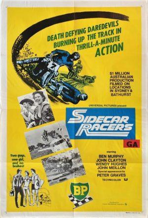 Sidecar Racers Australian One Sheet film poster (38) speedway racing theme