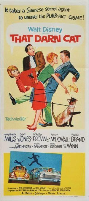 That Darn Cat Walt Disney Australian daybill film poster (7)