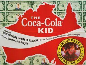 The Coca-Cola Kid UK Quad poster with Eric Roberts Australia Map design (1)