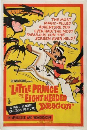 The Little Prince and the Eight Headed Dragon Australian One Sheet film poster 1963 known as Wanpaku ôji no orochi taiji in Japan (4)