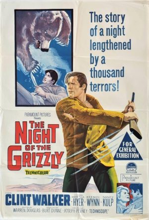 The Night of the Grizzly Australian One Sheet film poster (29)