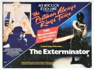 The Postman Always rings twice and the Exterminator UK double bill quad film poster (8)