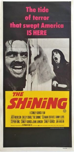 The Shining Australian daybill poster by Stanley Kubrick (1)